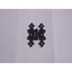 cerniera per mobile ferro battuto nero piana 70x45 0958027
