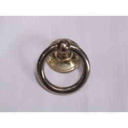 battente anello maniglia per porta ottone lucido  741101101