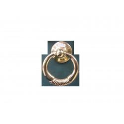 battente anello maniglia per porta ottone lucido 741900001