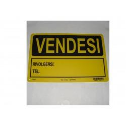 """targa in plastica """"VENDESI"""" 300X200mm. 5264369"""