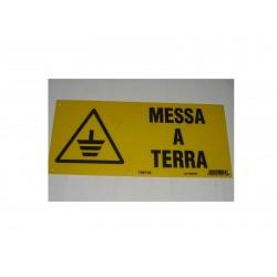 "targa in plastica ""MESSA A TERRA"" 310X140MM. 5264367"
