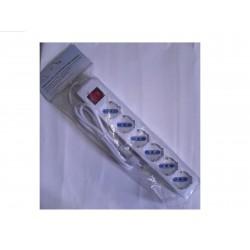multipresa ciabatta elettronica 6 posti schuko/bivalenti c/int.