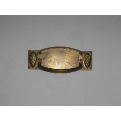 maniglia per mobile ottone bronzato 100x43 interasse 64mm.OM171.A.P