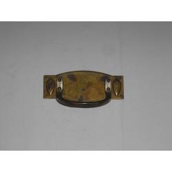 maniglia per mobile ottone bronzato 80X35 interasse 49MM. OM171.B.P