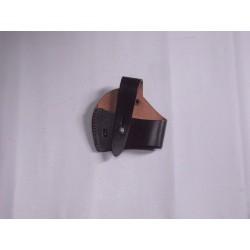 Fondina fodero in pelle per pistola 80x75mm.
